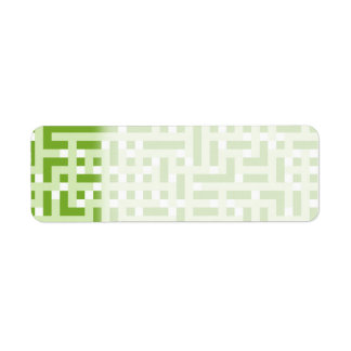 Geometric Pattern in Green and White.