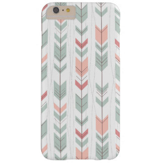Geometric pattern in retro style barely there iPhone 6 plus case