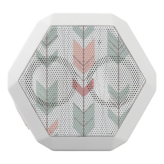 Geometric pattern in retro style white boombot rex bluetooth speaker