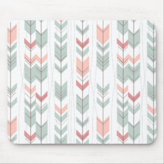 Geometric pattern in retro style mouse mat