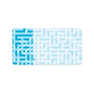 Geometric Pattern in Turquoise. Label