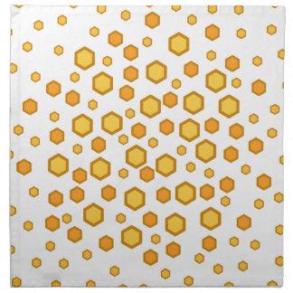 Geometric Pattern in Yellow and Orange. Napkin