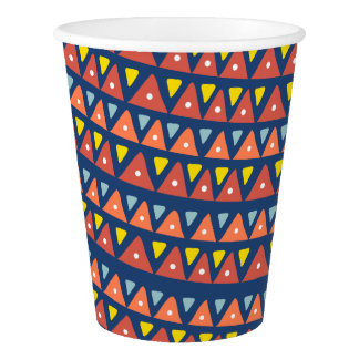 Geometric Pattern Paper Cups