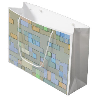 Geometric pattern pastel large gift bag