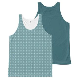 Geometric pattern pattern blue & green All-Over print tank top