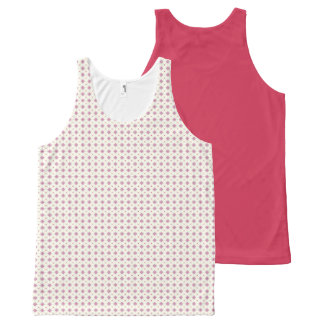 Geometric pattern pattern pink All-Over print tank top