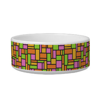 Geometric Pattern pet bowls