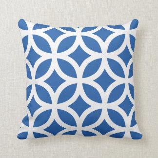 Geometric Pattern Pillow in Cobalt Blue Cushions