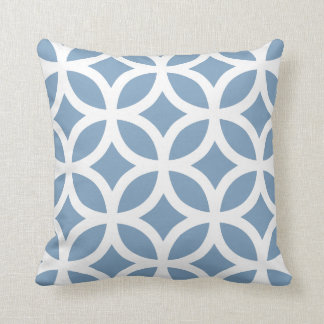 Geometric Pattern Pillow in Dusk Blue