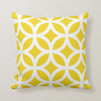 Geometric Pattern Pillow in Lemon Yellow