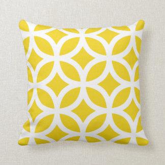 Geometric Pattern Pillow in Lemon Yellow Cushion