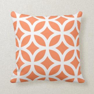 Geometric Pattern Pillow in Nectarine Orange Cushions
