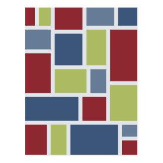 Geometric Pattern postcard, customize Postcard