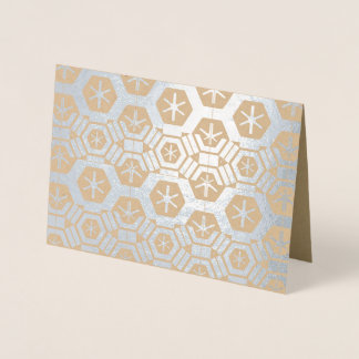 Geometric Pattern Silver 4Veronica Foil Card