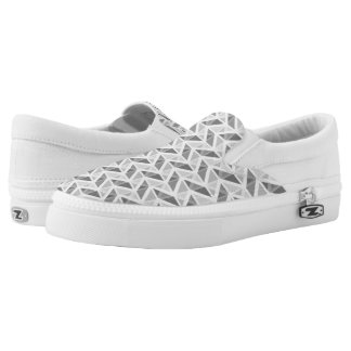 geometric pattern slip on shoes