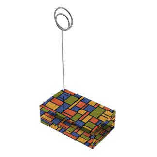 Geometric Pattern table card holder