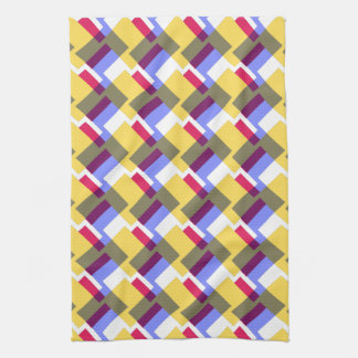 Geometric pattern tea towel