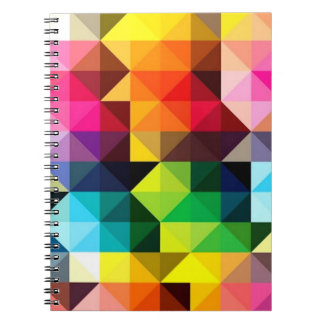 Geometric Pattern Vector Colorful Notebooks