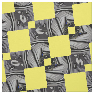 Geometric pattern with yellow accent