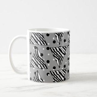 Geometric Pattern with Zebra Stripes and Dots. Basic White Mug