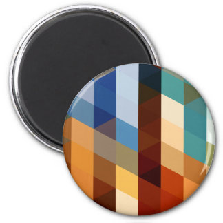 Geometric Patterns | Blue and Orange Triangles Refrigerator Magnet