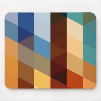 Geometric Patterns | Blue and Orange Triangles Mouse Mat