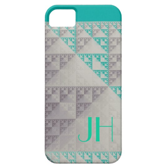 Geometric Patterns & Custom Monogram iPhone 5 Cover
