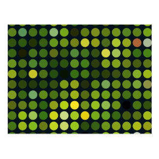 Geometric Patterns | Green circles Postcard