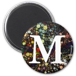 Geometric Patterns | Multicolor Circles 6 Cm Round Magnet