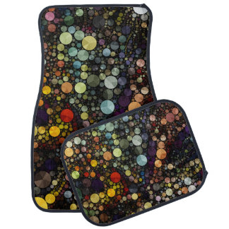 Geometric Patterns | Multicolor Circles Car Mat
