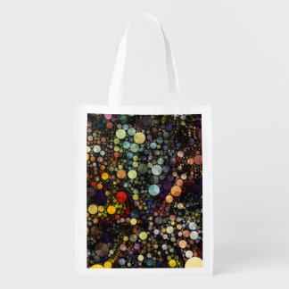 Geometric Patterns | Multicolor Circles Reusable Grocery Bag