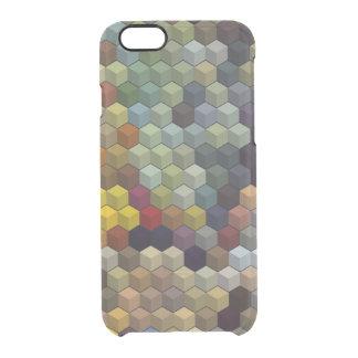 Geometric Patterns   Multicolor cubes / blocks Clear iPhone 6/6S Case