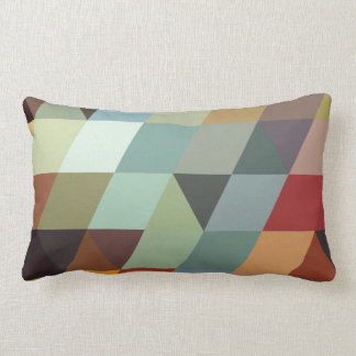 Geometric Patterns | Multicolor Triangles Lumbar Pillow
