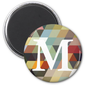 Geometric Patterns | Multicolor Triangles Fridge Magnets
