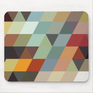Geometric Patterns | Multicolor Triangles Mouse Pad