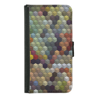 Geometric Patterns | Multicolored cubes and square Samsung Galaxy S5 Wallet Case
