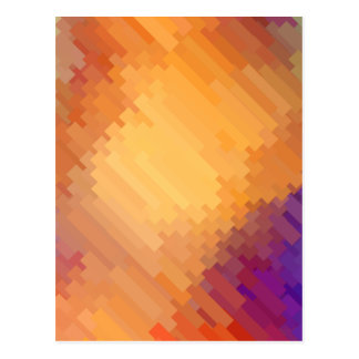 Geometric Patterns | Purple and Orange Strips Postcard