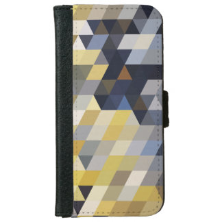 Geometric Patterns | Yellow and Blue Triangles iPhone 6 Wallet Case