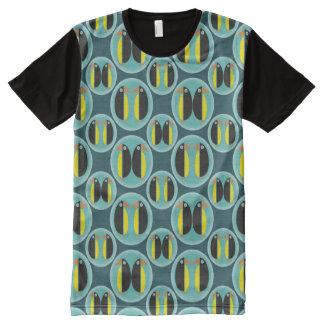 Geometric Penguin Bubbles All-Over Print T-Shirt