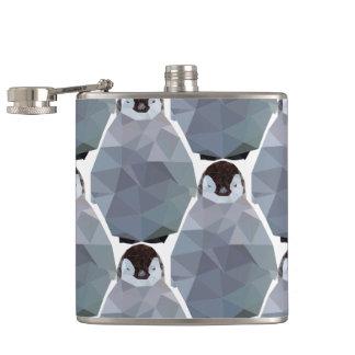 Geometric Penguin Huddle Print Flasks