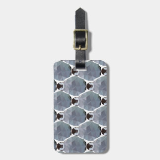Geometric Penguin Huddle Print Luggage Tag