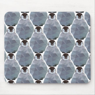 Geometric Penguin Huddle Print Mouse Mat