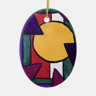 Geometric Perception Christmas Ornament