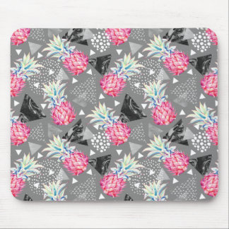Geometric Pineapple Textured Pattern Mouse Mat