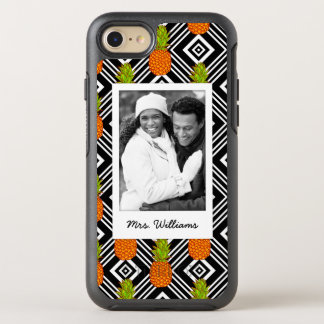 Geometric Pineapples | Add Your Photo & Name OtterBox Symmetry iPhone 8/7 Case