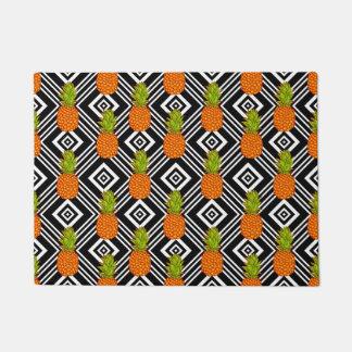 Geometric Pineapples Doormat