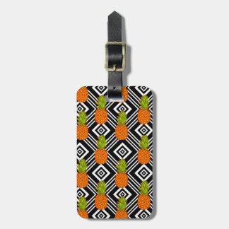 Geometric Pineapples Luggage Tag