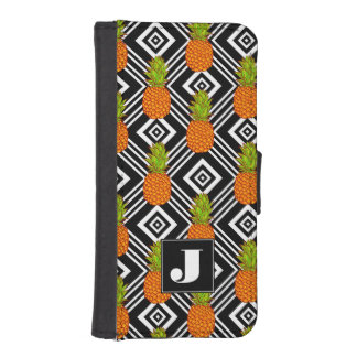 Geometric Pineapples | Monogram iPhone SE/5/5s Wallet Case
