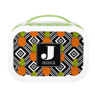 Geometric Pineapples | Monogram Lunch Box