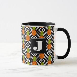 Geometric Pineapples | Monogram Mug